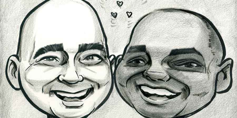 caricature-wedding-present