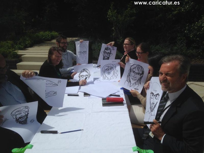 Teambuilding crash course in drawing caricatures. Great results!