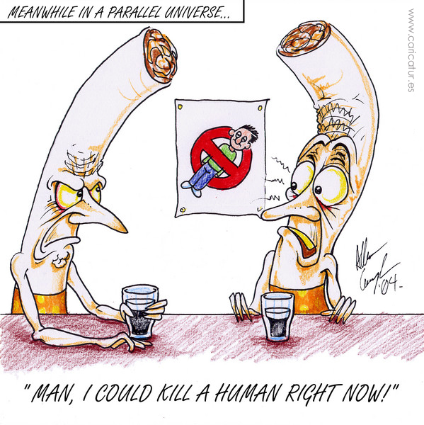 free smoking cartoon by Allan Cavanagh