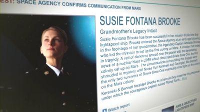 Screengrab of Susie Fontana Brooke profile Doctor Who