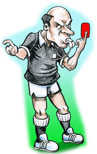 Football referee cartoon