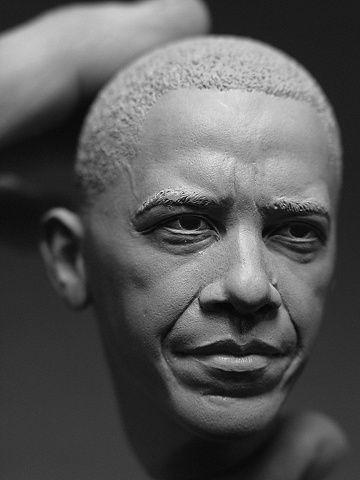 ffffound closes down image barack obama sculpture