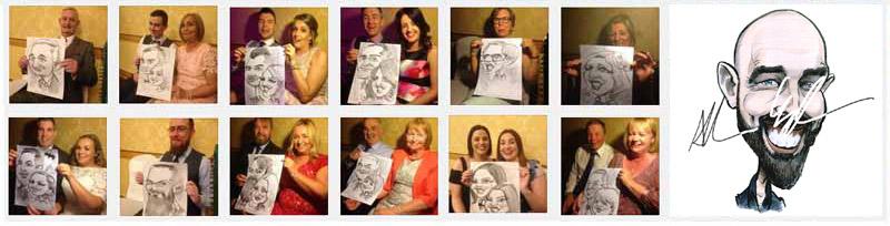 Wedding Entertainment Ireland: Live Wedding Caricatures by Allan Cavanagh