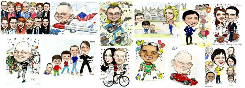 Caricatures online Ireland by Allan Cavanagh