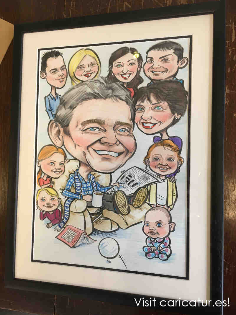70th Birthday Present Ideas Caricatures Ireland By Allan Cavanagh