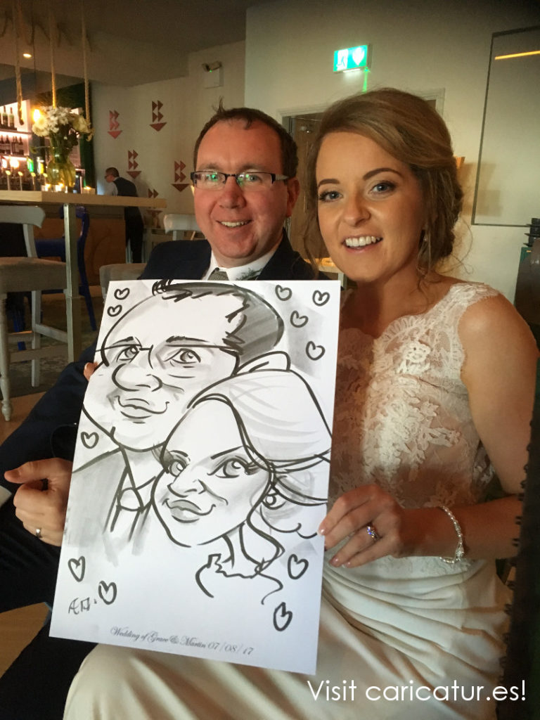 Armada Hotel Weddings Clare Caricatures by Allan Cavanagh