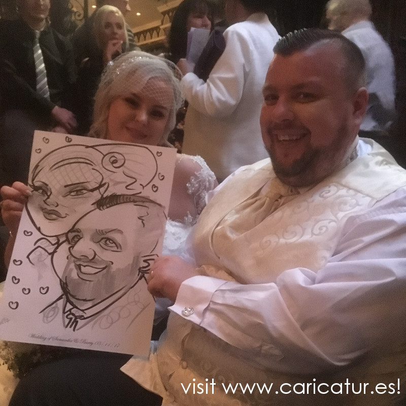 wedding picture caricature anniversary ideas - Kilkenny Wedding Entertainment in Langton House Hotel