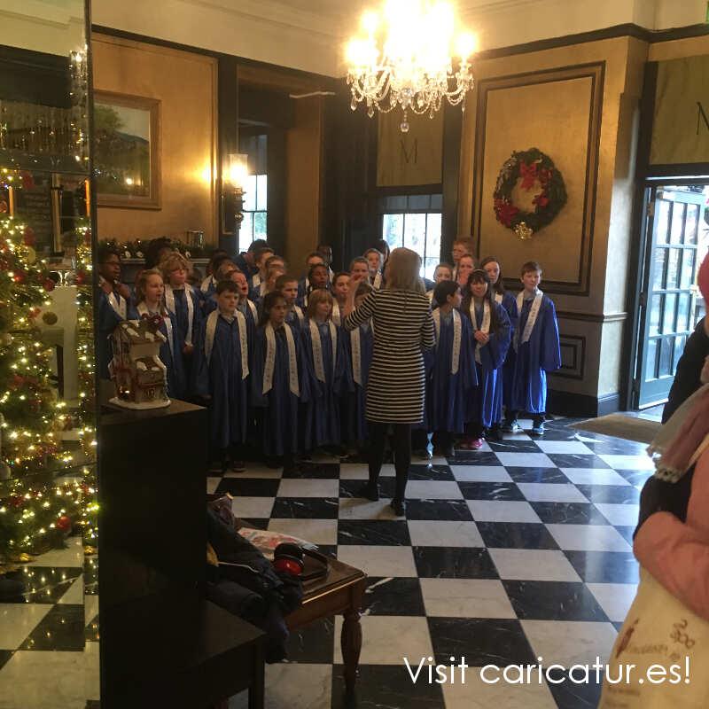 Christ Carol Choir in Hotel Meyrick Galway