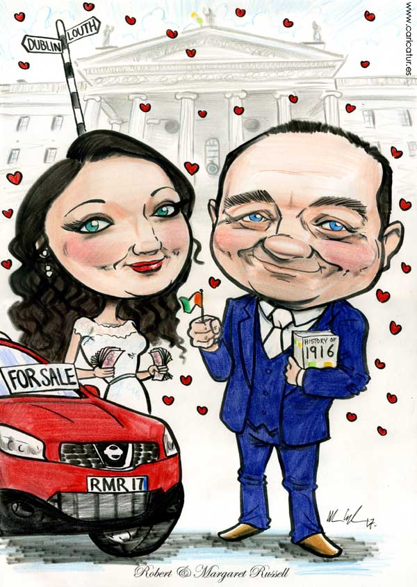 GPO Dublin 1916 caricature drawing bride and groom