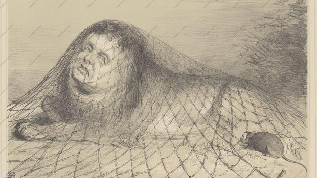 John Doyle Political Cartoonist The Lion and the Mouse