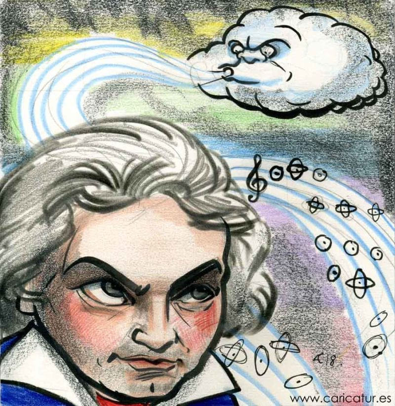 Beethoven Caricature Cartoon Pastoral Symphony
