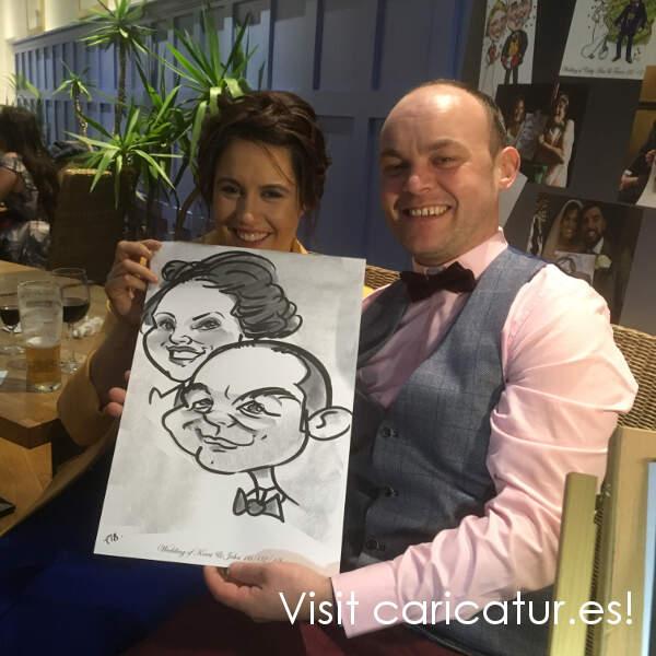 Limerick wedding entertainment caricatures by Allan Cavanagh
