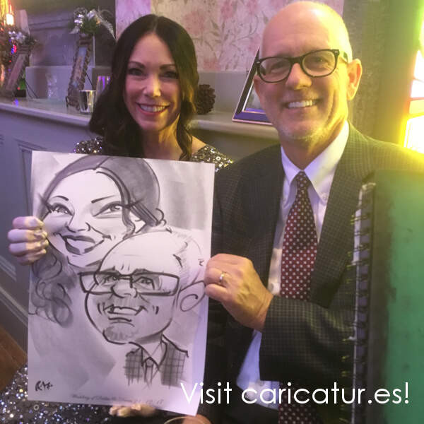 Tralee Wedding Entertainment - Live Wedding Caricature Artist Allan Cavanagh