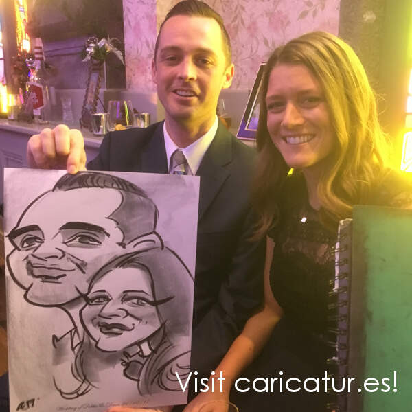 Tralee Wedding Entertainment - Live Wedding Caricature Artist Allan Cavanagh