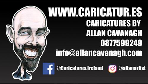 Allan Cavanagh Caricature Artist Ireland Contact Details