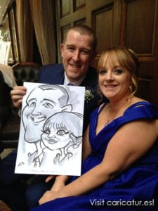Couple with caricature