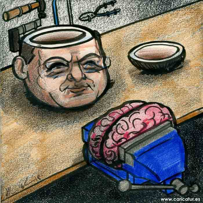 depression mental health brain cartoon