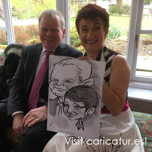 Allan Cavanagh Wedding Caricatures
