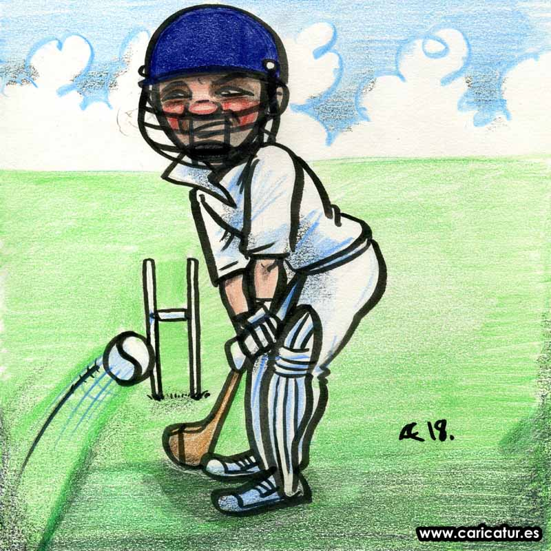Irish Cricket Cartoon