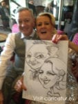 Dublin Wedding Guests with Caricature by Allan Cavanagh
