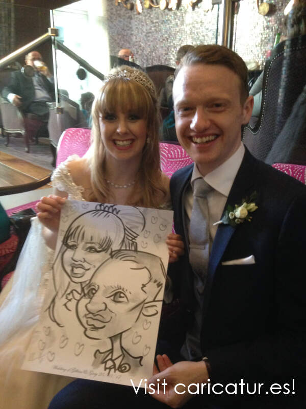 Clontarf Castle Hotel Wedding Caricatures