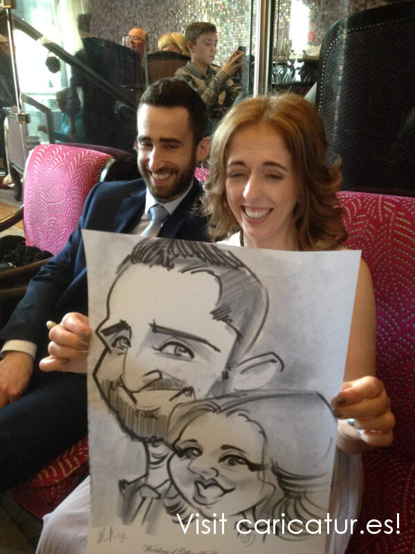 wedding caricature artist Ireland
