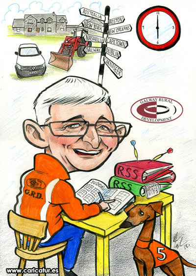 Caricature Retirement Gift Galway