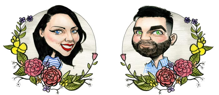 Wedding Invitation Artwork Ideas: Caricature Yourself for Wedding Invites!