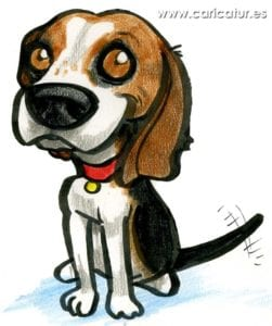 Beagle Cartoon – Free Clipart Cartoon of Beagle Dog Wagging Tail