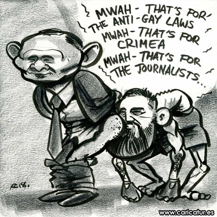 Conor McGregor Vladimir Putin Cartoon