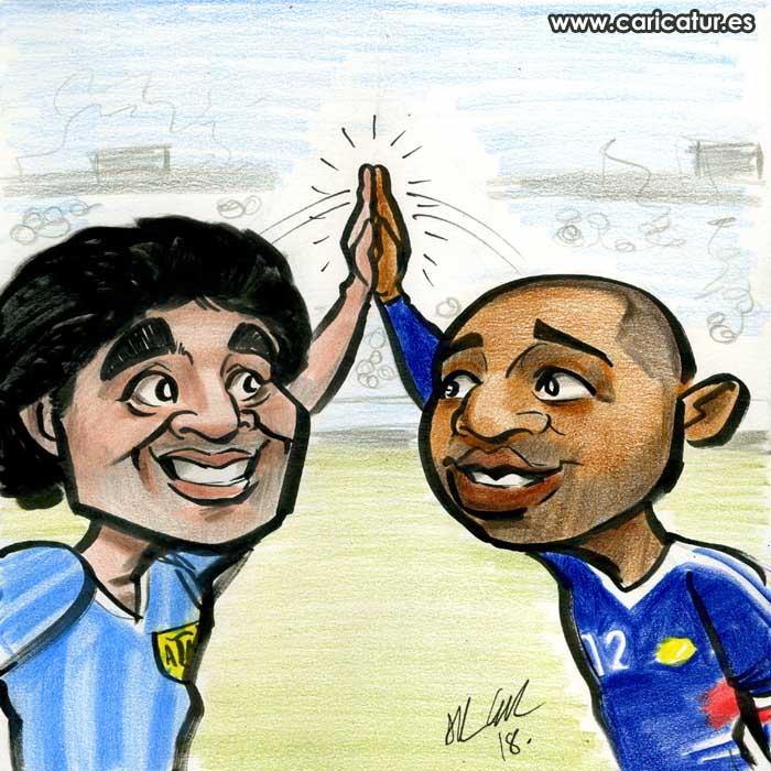 Diego Maradona Thierry Henry