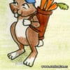 Golfing rabbit cartoon free clipart