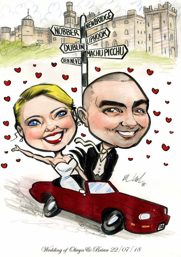 Allan Cavanagh Wedding and Events Caricature Artist