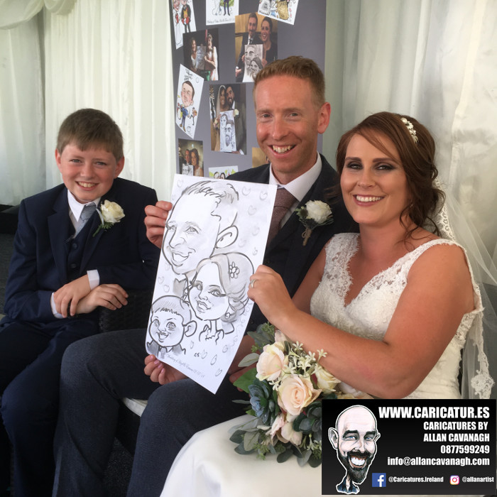 Faithlegg House fun wedding ideas caricatures
