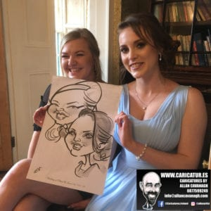 Ghan House Wedding Caricatures