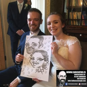 Funny wedding caricatures