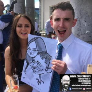 cork caricature artist for weddings