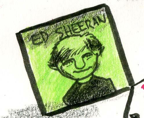 Ed Sheeran cartoon