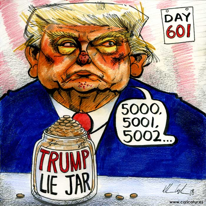 trump liar cartoon caricature