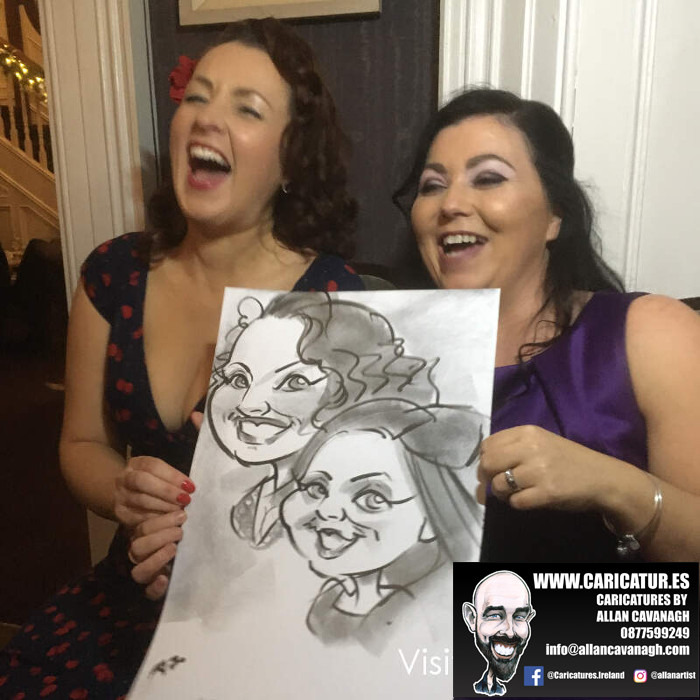 Brandon House Hotel New Ross Caricature Artist Wedding Guest Entertainment 11
