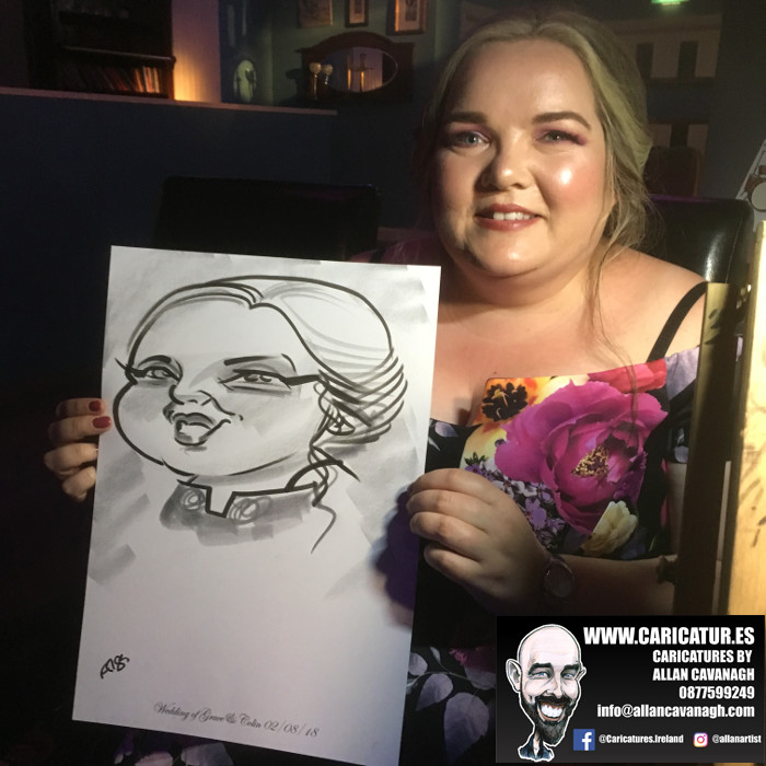 Belmullet Wedding Entertainment Caricature Artist 17