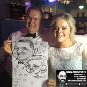 Belmullet Wedding Entertainment Caricature Artist 19