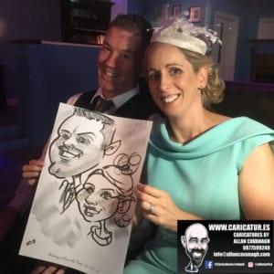 Belmullet Wedding Entertainment Caricature Artist 2