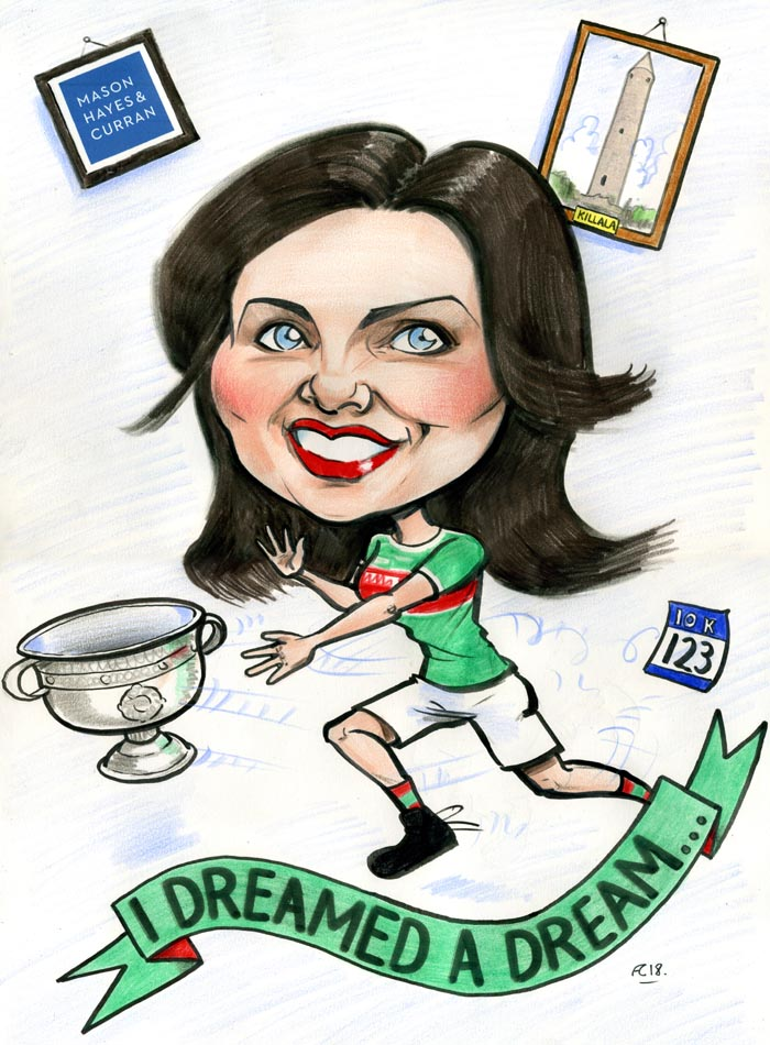 mayo for sam caricature sam maguire cup