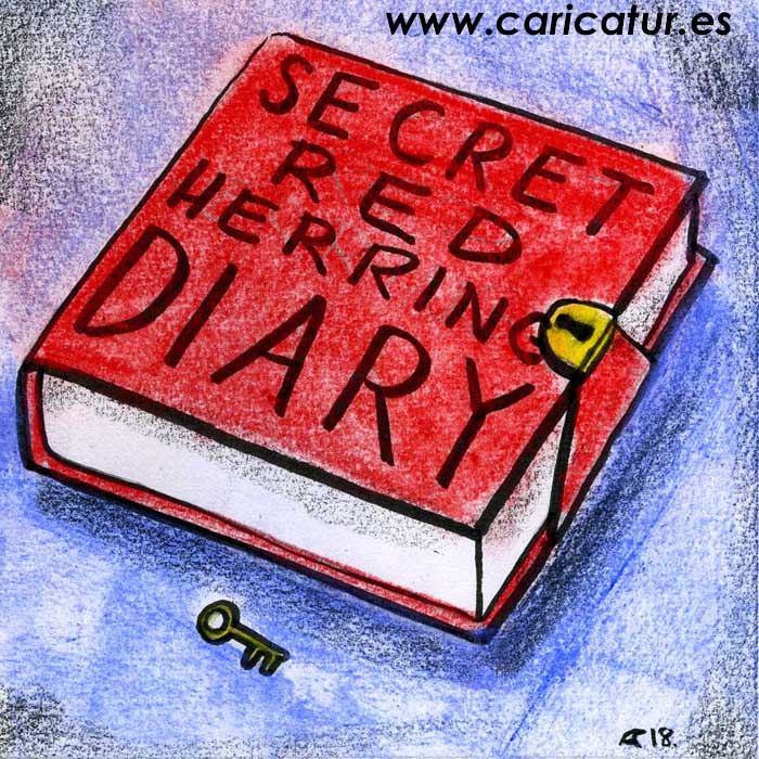red diary cartoon