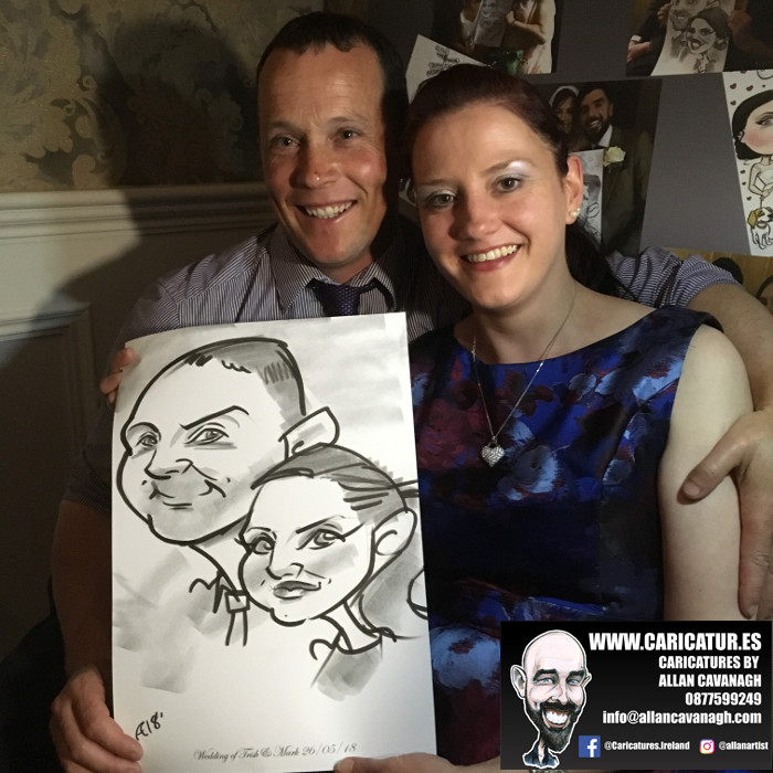 ROSE HOTEL KERRY WEDDING CARICATURES 1