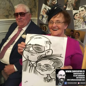 ROSE HOTEL KERRY WEDDING CARICATURES 10