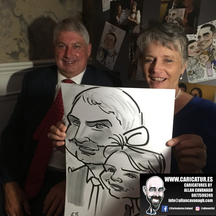 ROSE HOTEL KERRY WEDDING CARICATURES 14