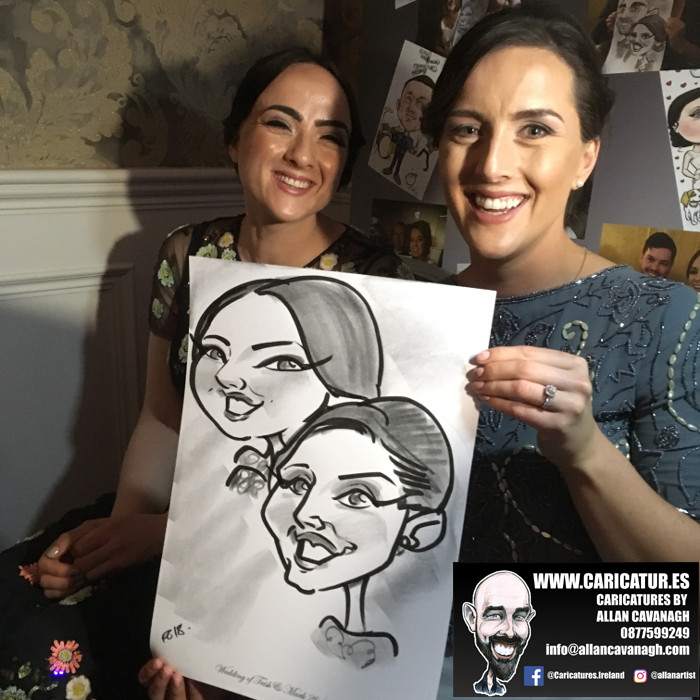 ROSE HOTEL KERRY WEDDING CARICATURES 20