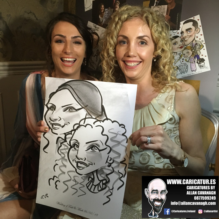 ROSE HOTEL KERRY WEDDING CARICATURES 22